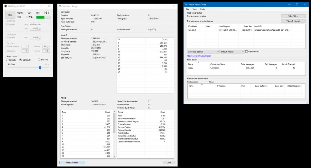 ADS-B Software ADSBSpy Virtual RADAR